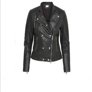 Gestuz Melanie Leather Jacket in Black